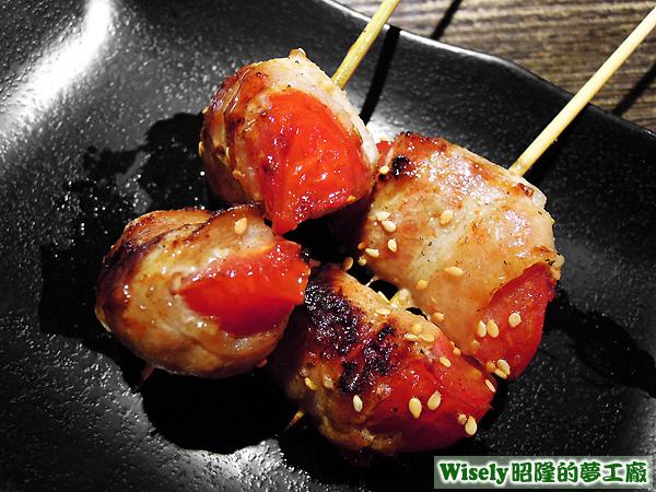 豬肉蕃茄卷