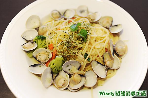 鮮味蛤蜊義大利麵(清炒