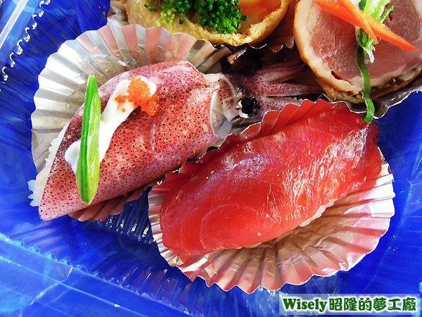 小捲壽司、鮪魚握壽司