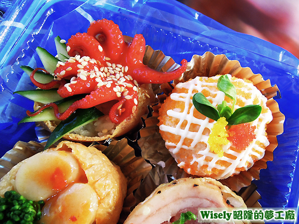 小章魚壽司、鮪魚壽司
