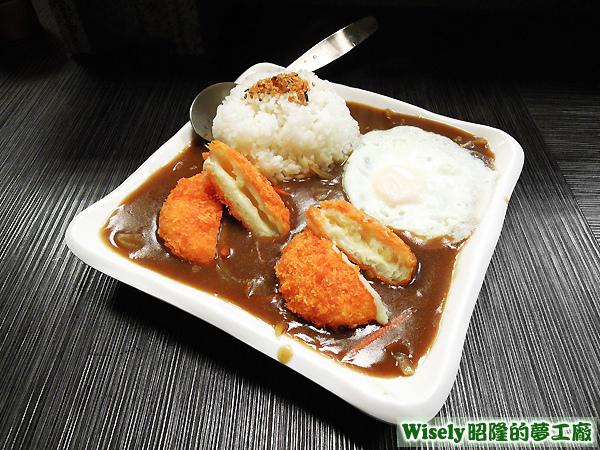 日式可樂餅咖哩飯