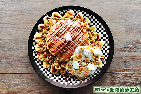 香草核果鬆餅