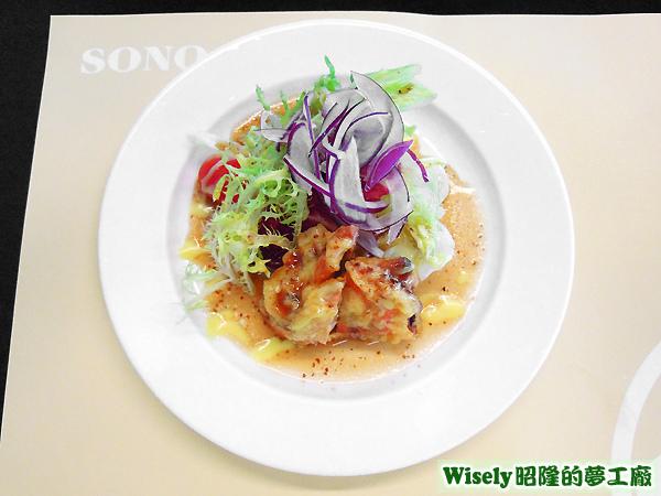 軟殼蟹和風沙拉