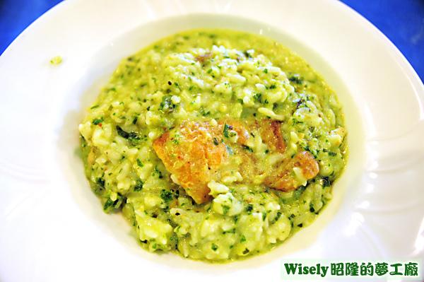 海鮮羅勒青醬義式燉飯