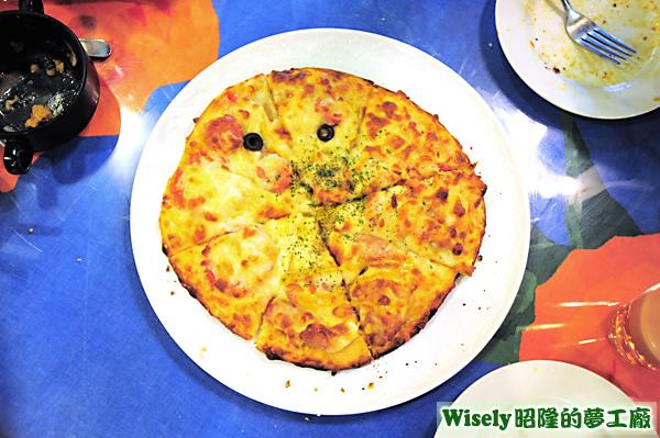 披薩拼盤(夏威夷/煙燻雞絲/義式香腸/瑪格莉特)