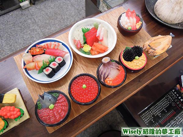生魚片蓋飯模型