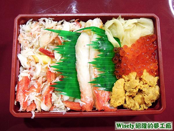 華麗蟹飯壽司便當