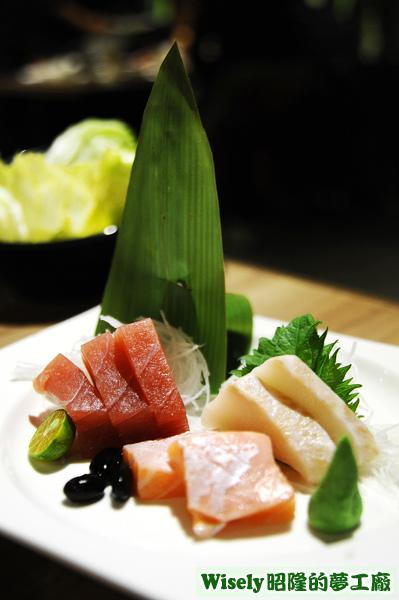 綜合三品刺身(鮪魚/鮭魚/海鱺)