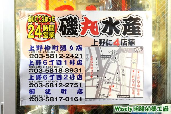 四家分店的地址電話