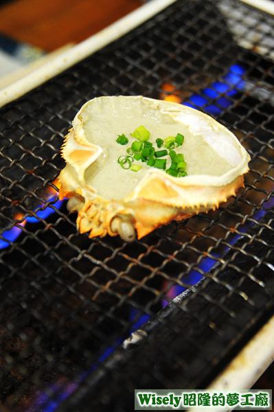蟹味噌甲羅燒