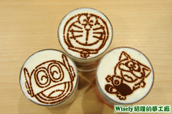 LATTE ART DRINK杯頂圖案