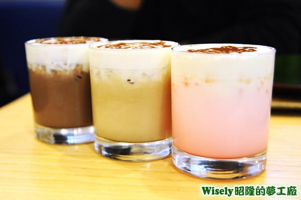LATTE ART DRINK(ココア/カフェラテ/イチゴミルク)