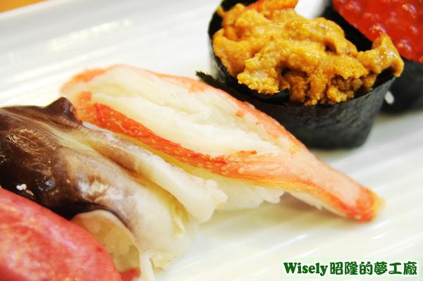 蟹肉握壽司