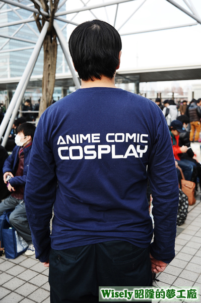 ANIME COMIC COSPLAY長袖棉T恤(藏青)