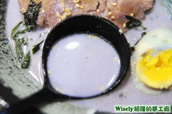 紫地瓜奶油豚骨湯