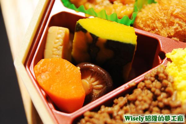 煮物(竹筍/紅蘿蔔/南瓜/香菇)