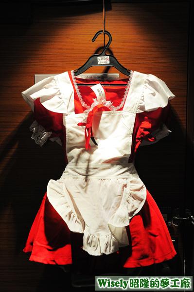 紅色女僕裝(M)