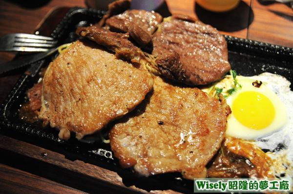 牛排+豬排