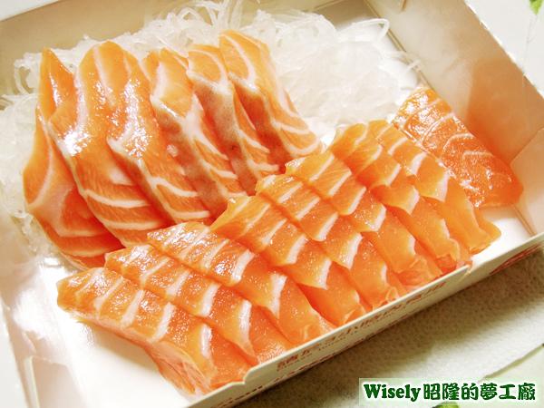 鮭魚生魚片(十五片)