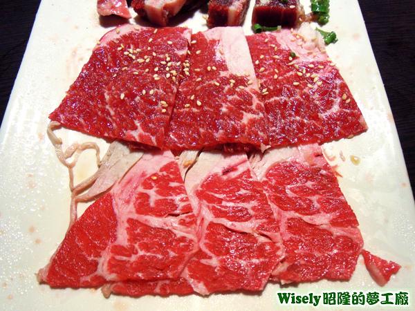 特級沙朗、霜降牛肉