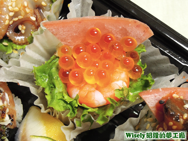 鮮蝦鮭魚卵壽司