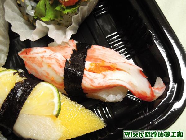松葉蟹棒握壽司