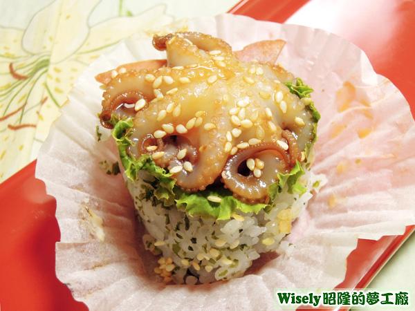 小章魚塔型壽司