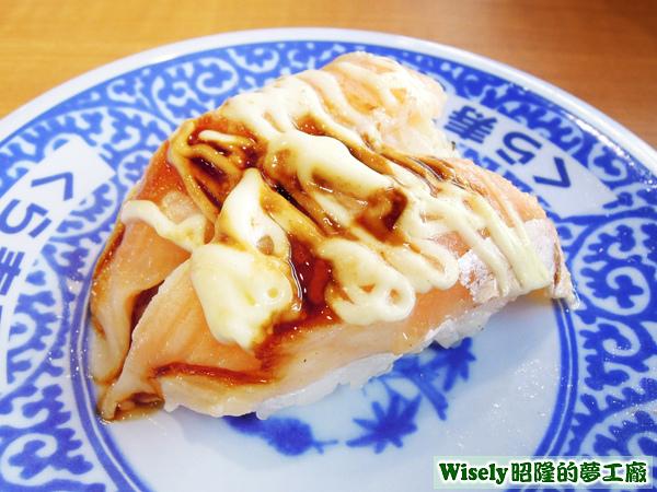 炙烤照燒鮭魚握壽司