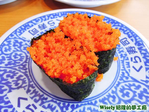 柳葉魚卵軍艦壽司