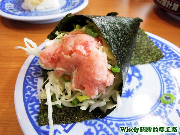 蔥花鮪魚沙拉手捲