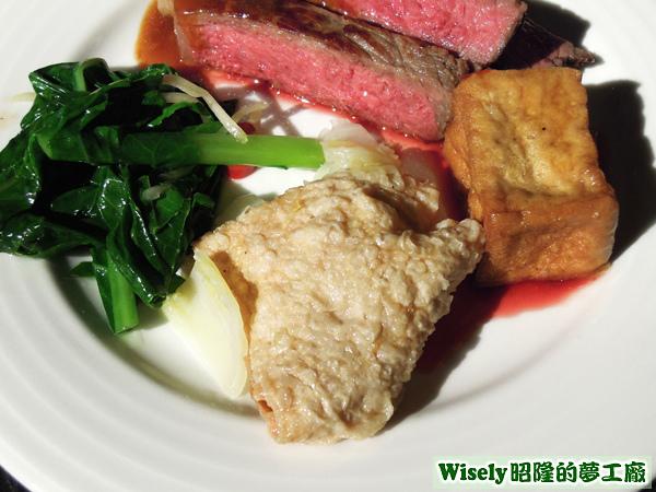 青菜、豆皮、豆腐