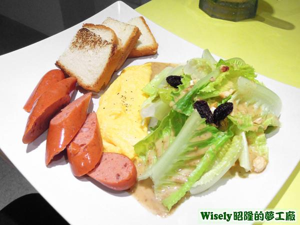德腸滑蛋鮮活沙拉餐
