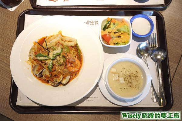 西西里茄汁海鮮麵