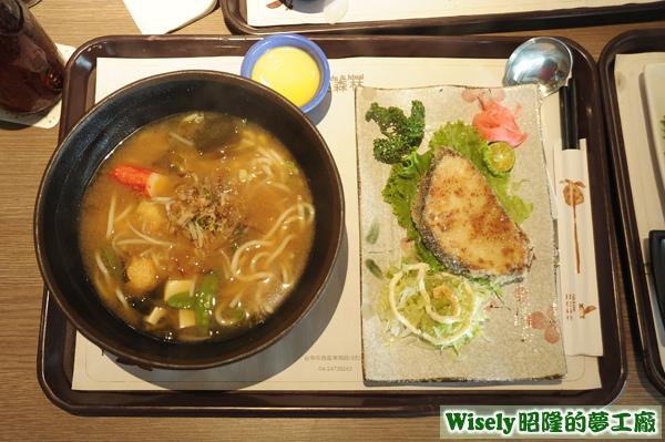 日式味噌魚拉麵