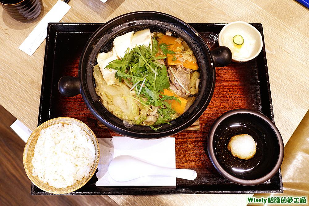 野菜豬肉鍋定食