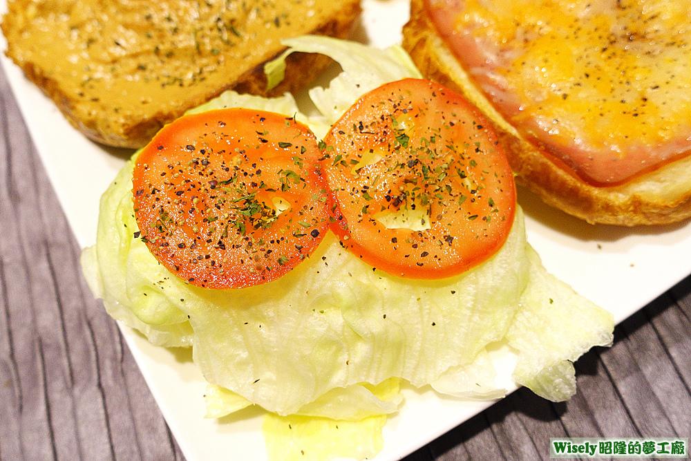 蕃茄、美生菜(萵苣)