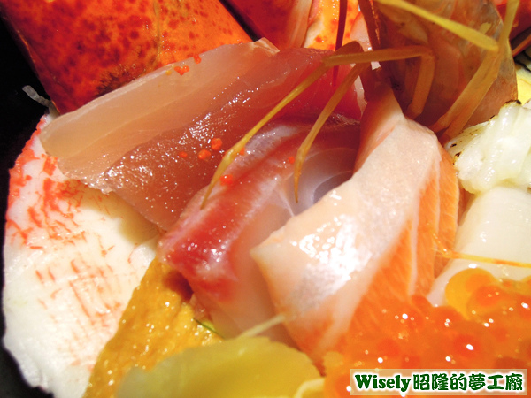 旗魚、鮪魚、鯛魚、鮭魚肚
