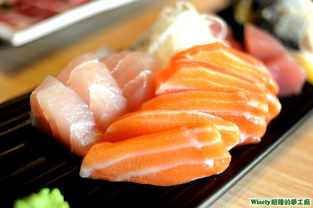旗魚生魚片、鮭魚生魚片