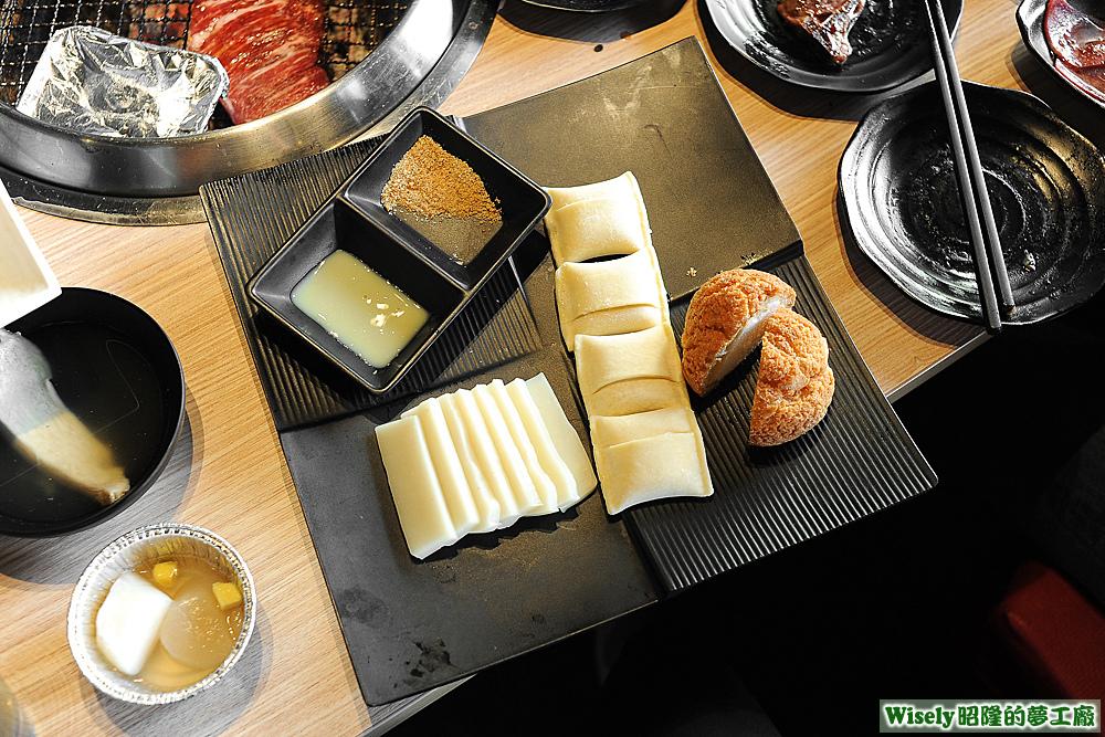 日式麻糬、一口酥乳酪、菠蘿泡芙