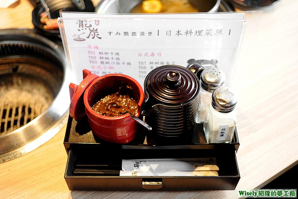 調味料、筷子