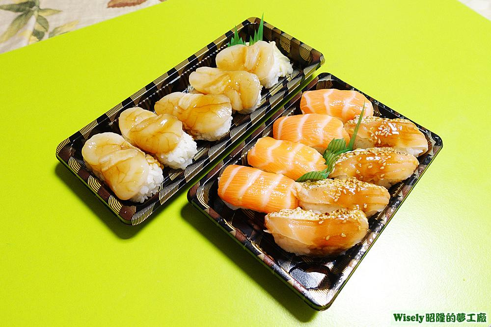 北海道干貝、鮭魚雙享