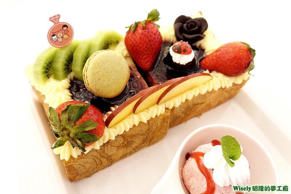 水果蜜糖丹麥土司