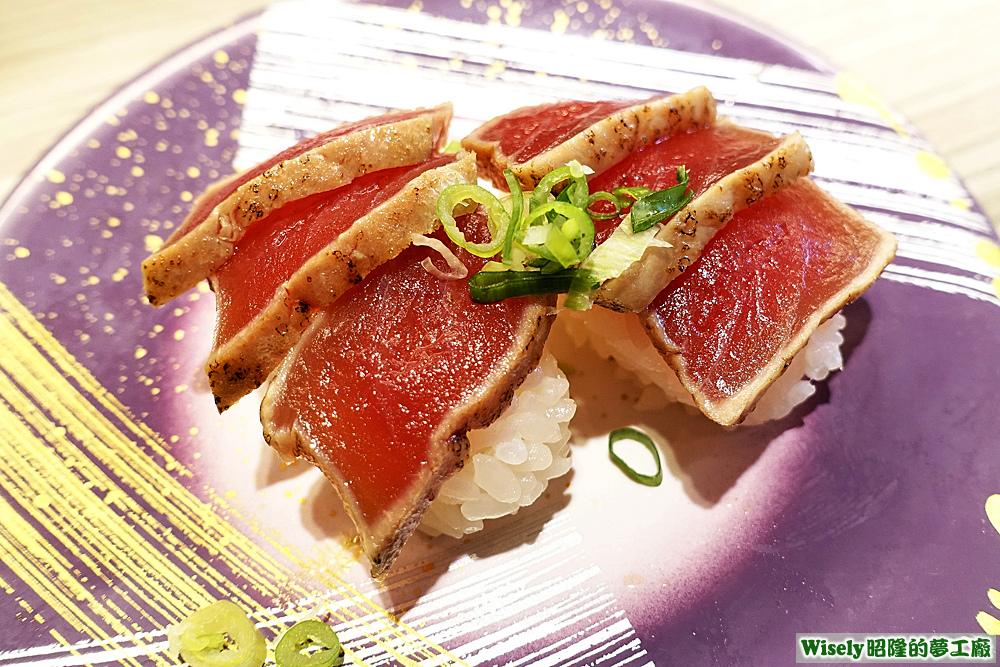 鮪魚半敲燒握壽司