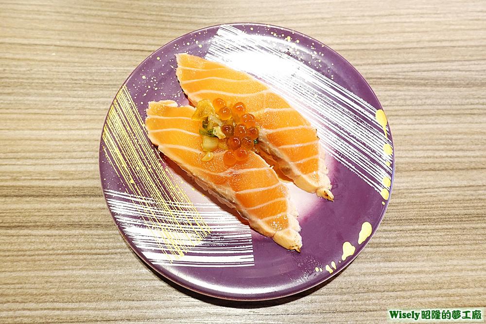 特製橘醋鮭魚半敲燒握壽司
