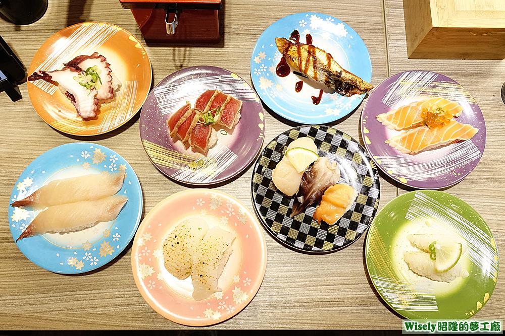 八盤握壽司
