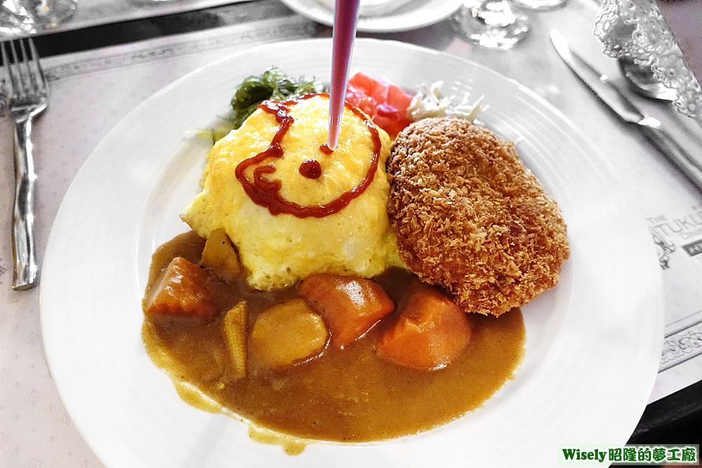 若菜用蕃茄醬畫貓咪