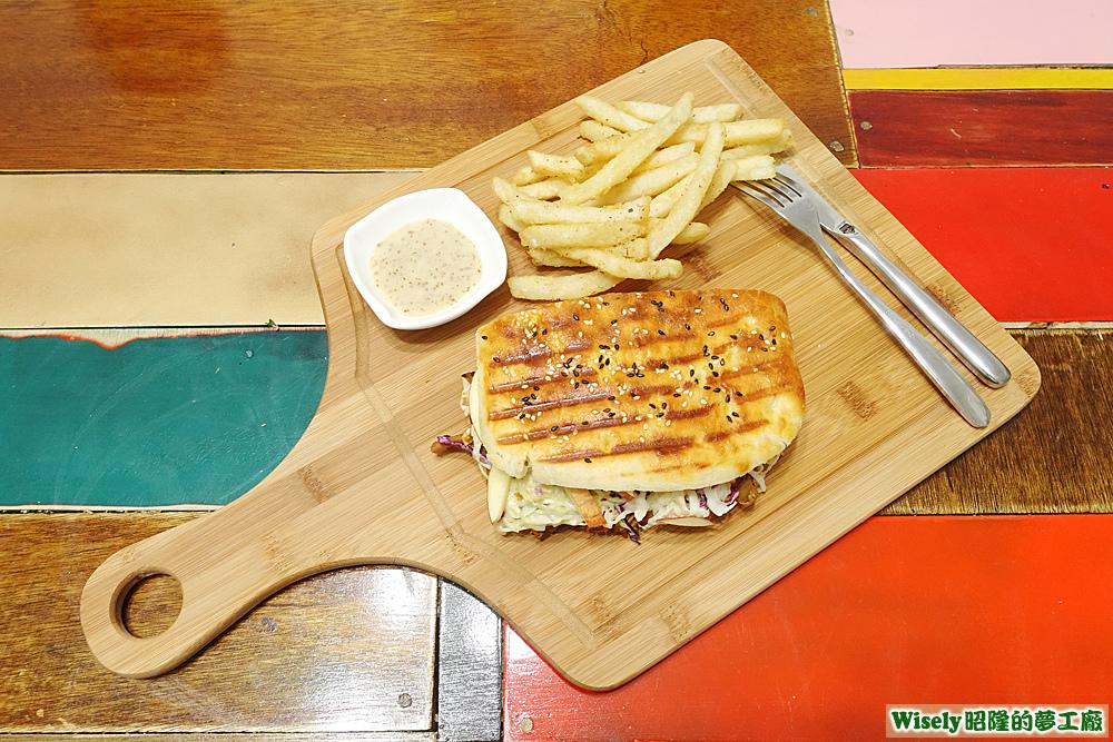 手撕豬肉三明治