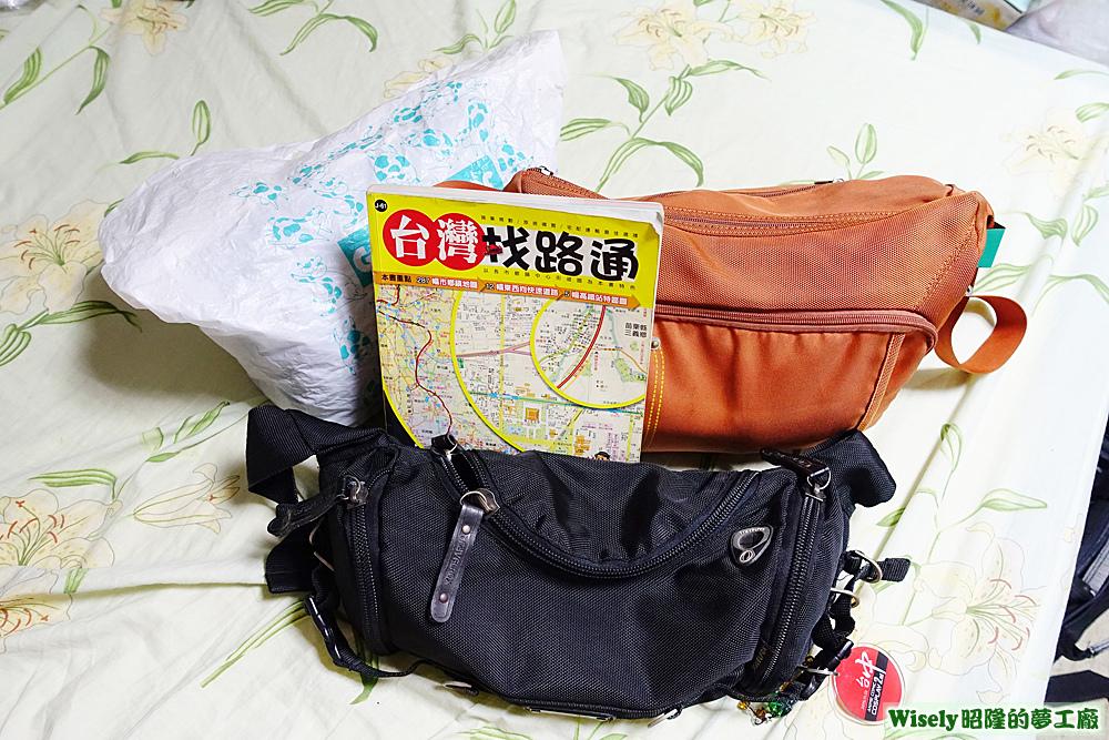 行李、地圖