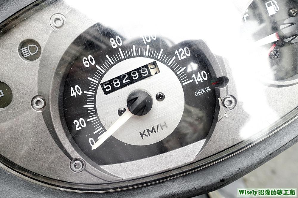 機車里程數58299.3公里