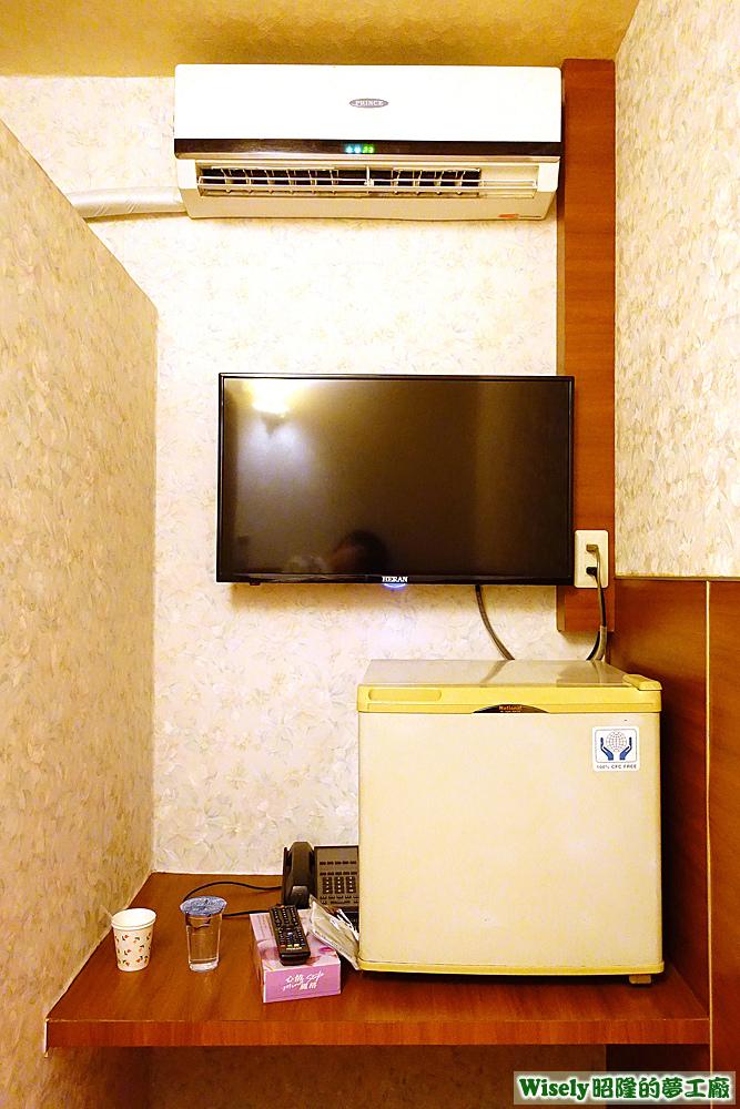 冷氣、電視、冰箱